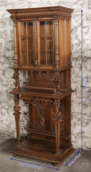 Small Neo-Renaissance style display cabinet-8