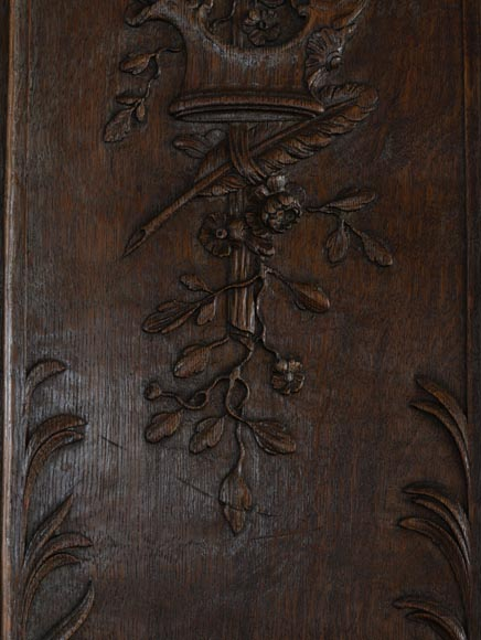 Double door in carved oak in Napoleon III style-4