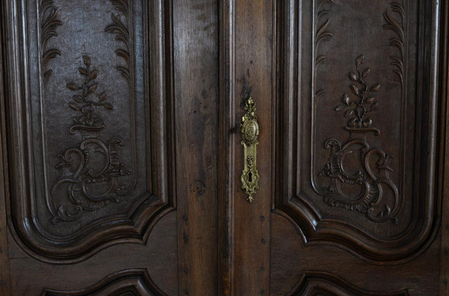 Double door in carved oak in Napoleon III style-5