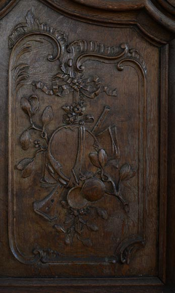 Double door in carved oak in Napoleon III style-8