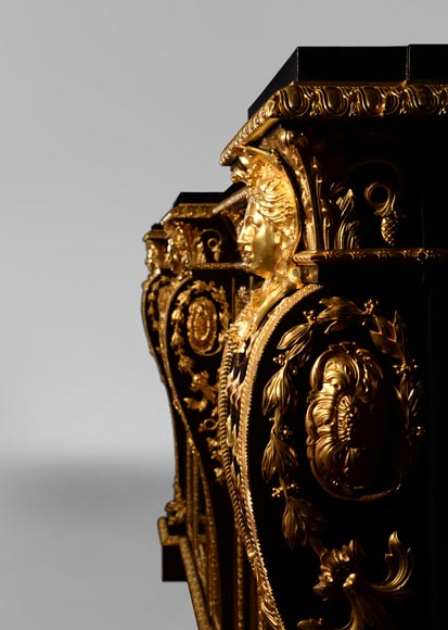 Alexandre BELLANGÉ - Important cupboard, ebony veneer and gilded bronze, coming from the Chateau of Dampierre-7