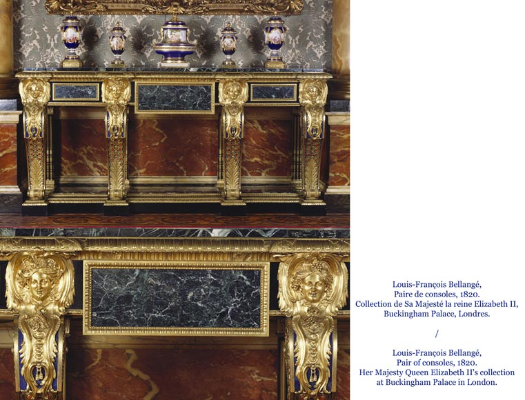 Alexandre BELLANGÉ - Important cupboard, ebony veneer and gilded bronze, coming from the Chateau of Dampierre-19