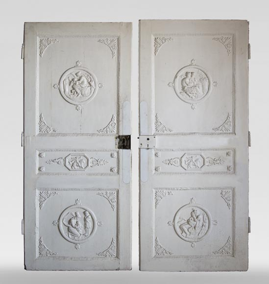 Pair of simple Empire style doors-0
