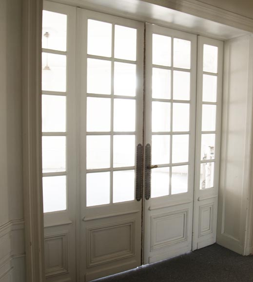 Double door with small squares, four panels-5