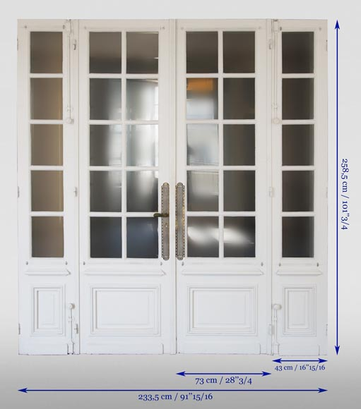 Double door with small squares, four panels-6