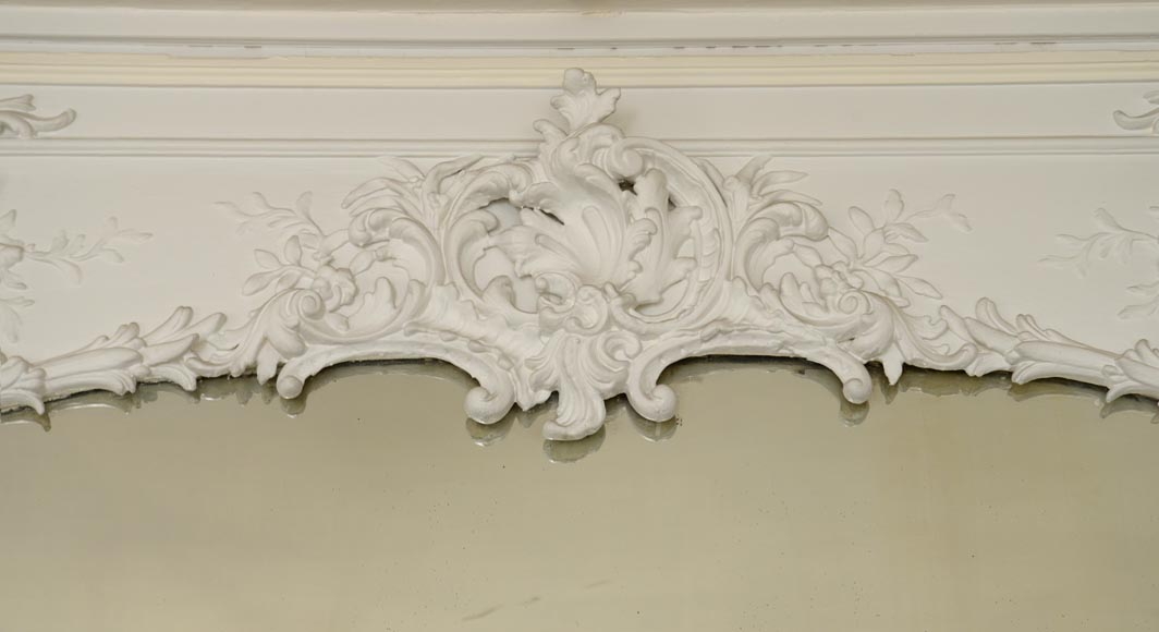 Antique Trumeau, richly carved in the Louis XV style-1