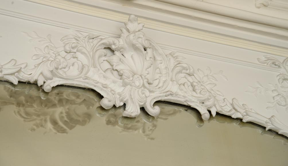 Antique Trumeau, richly carved in the Louis XV style-2