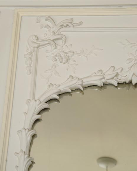 Antique Trumeau, richly carved in the Louis XV style-3
