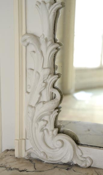 Antique Trumeau, richly carved in the Louis XV style-5
