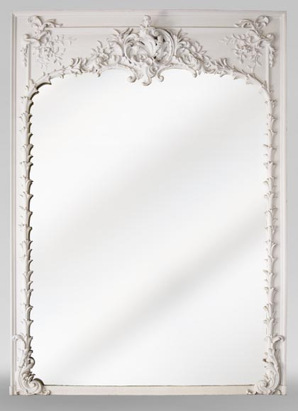 Richly carved Louis XV style trumeau-0