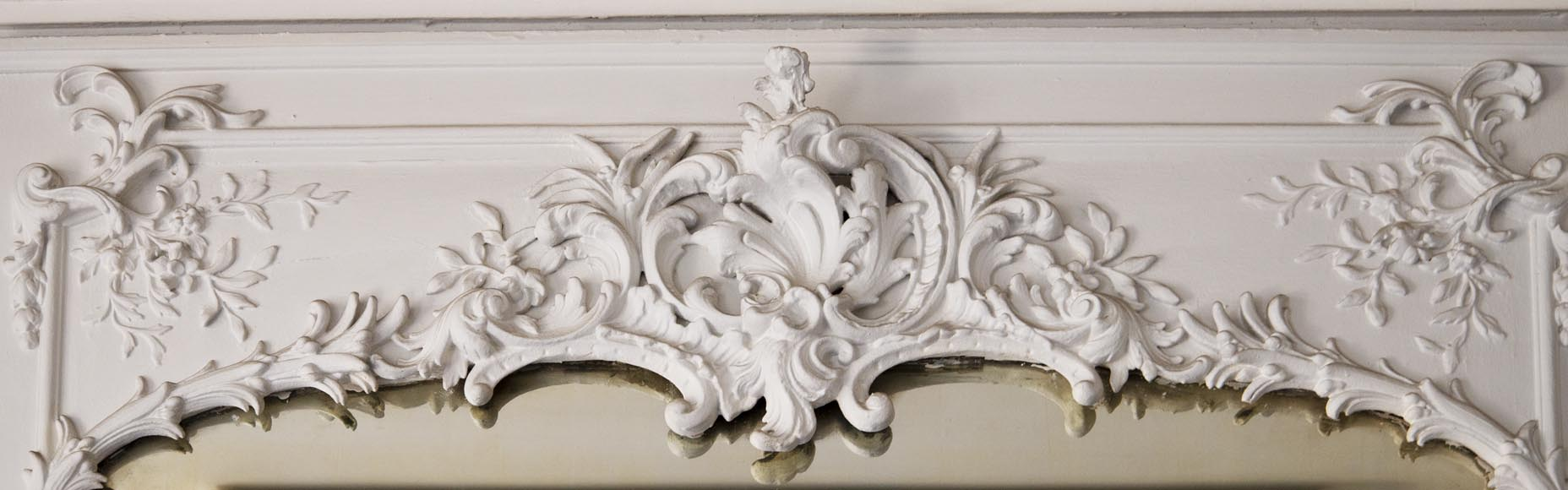Richly carved Louis XV style trumeau-1