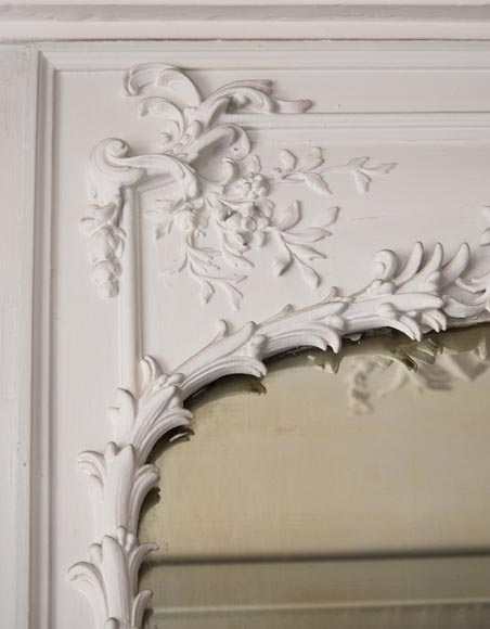 Richly carved Louis XV style trumeau-3