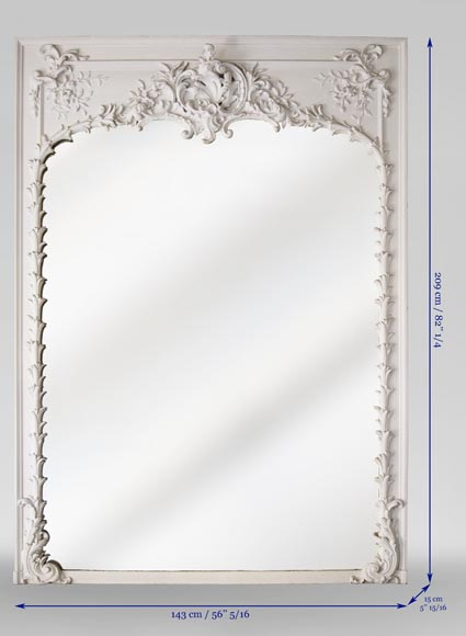 Richly carved Louis XV style trumeau-6
