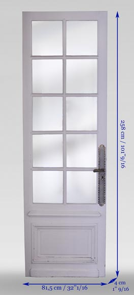 Simple door with small mirrors-6