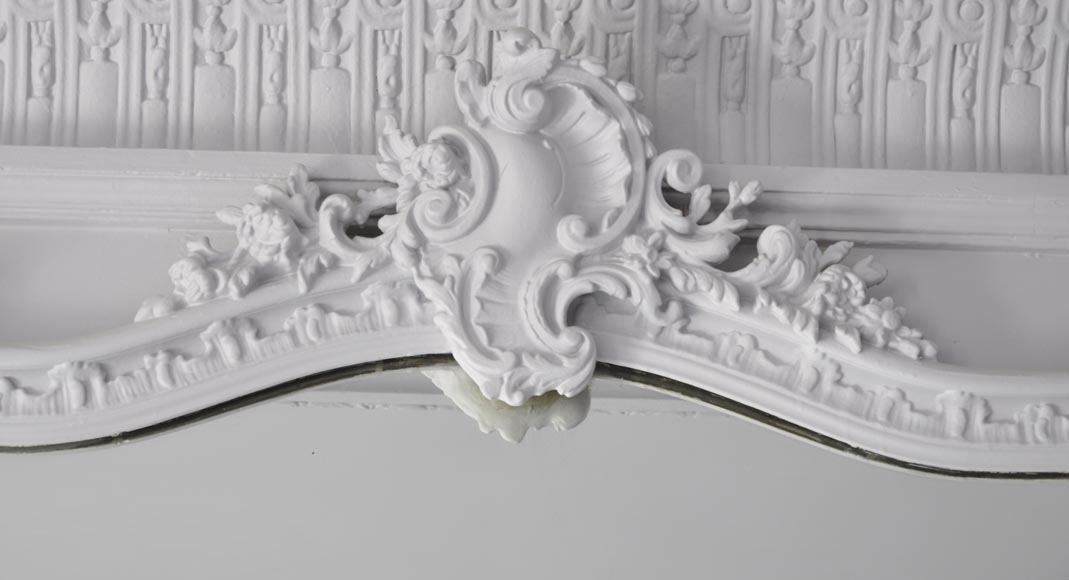Antique Louis XV style trumeau, with asymmetrical shell-1