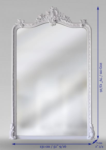 Antique Louis XV style trumeau, with asymmetrical shell-7