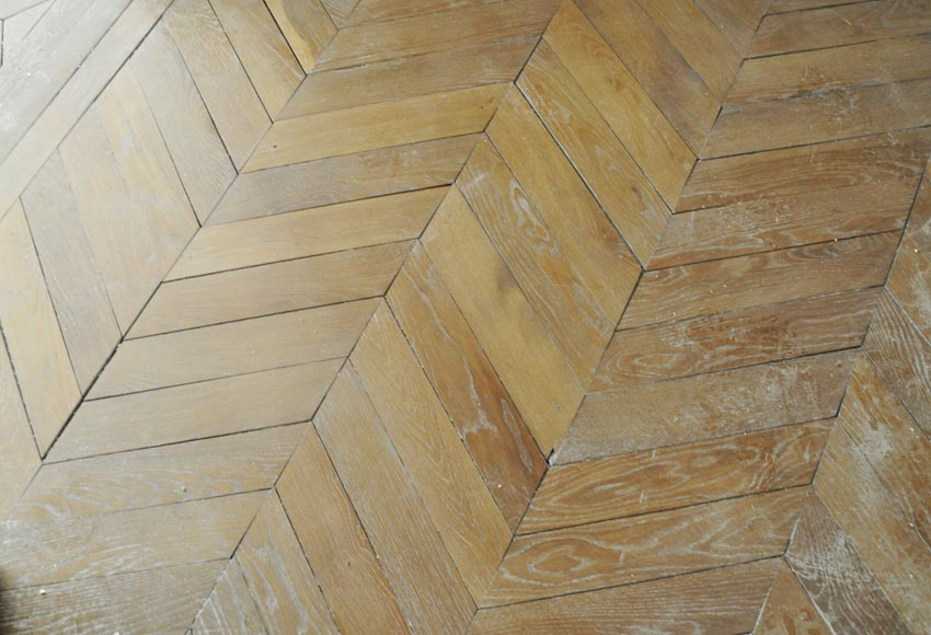 Set of Hungarian Point de Hongrie oak parquet flooring.-0