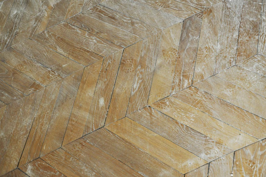 Set of Hungarian Point de Hongrie oak parquet flooring.-1
