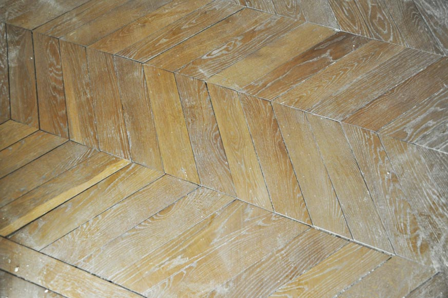 Set of Hungarian Point de Hongrie oak parquet flooring.-2