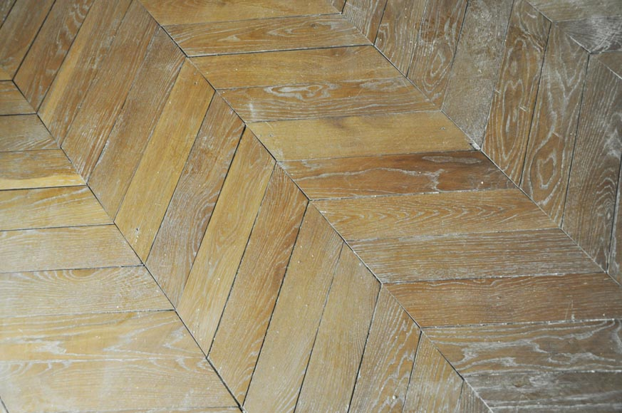 Set of Hungarian Point de Hongrie oak parquet flooring.-3