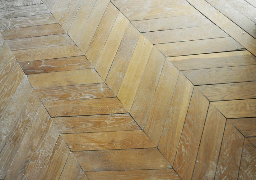 Set of Hungarian Point de Hongrie oak parquet flooring.-4