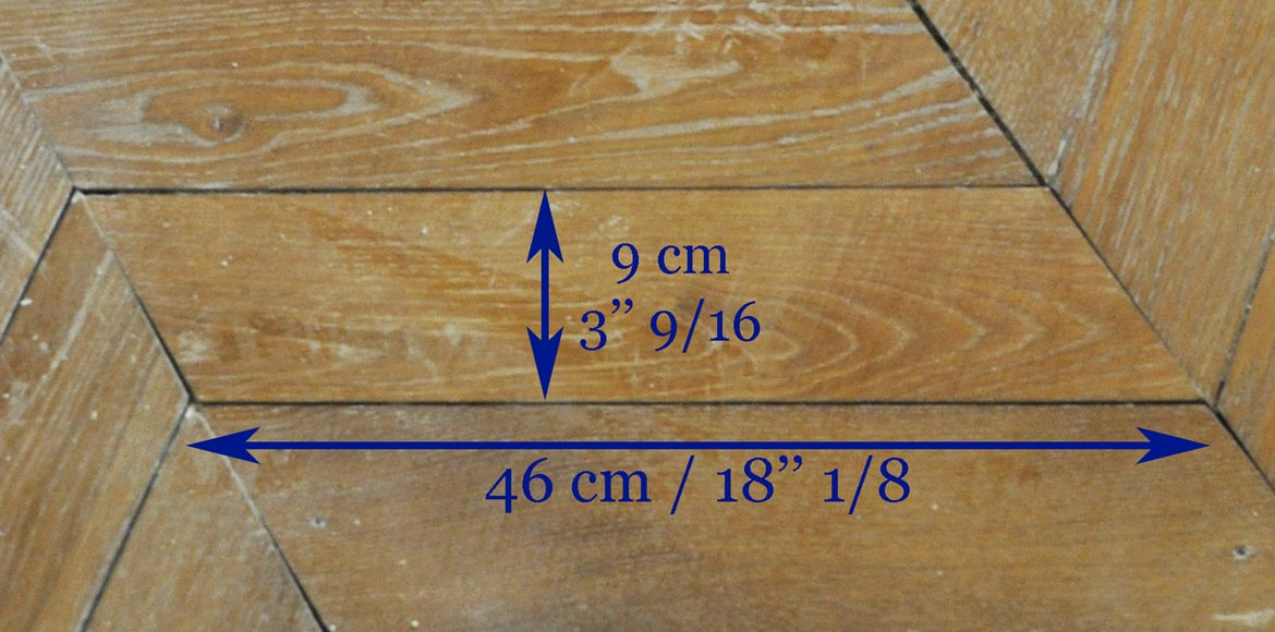 Set of Hungarian Point de Hongrie oak parquet flooring.-6