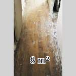 Old oak corridor parquet flooring