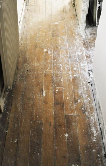 Antique oak hallway parquet flooring with a surface area of 8 m2-0