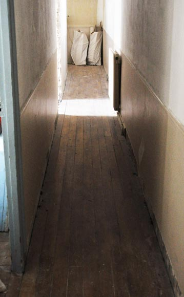 Antique oak hallway parquet flooring with a surface area of 8 m2-1