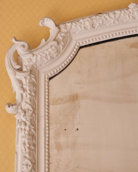 Antique Regency style trumeau with an openwork pediment adorned with a large shell-3