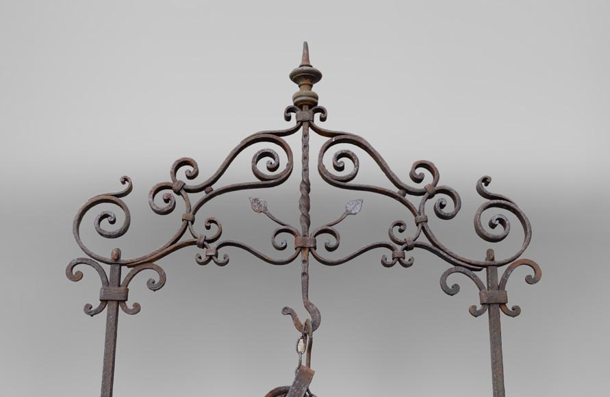 Rare antique 19th century well in cast iron and wrought iron-1