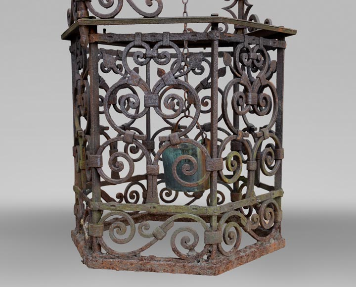 Rare antique 19th century well in cast iron and wrought iron-4