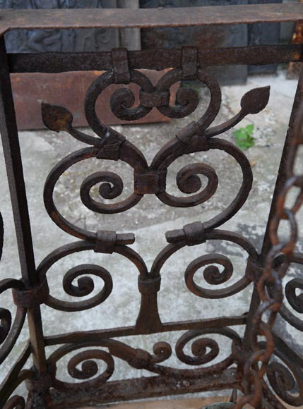 Rare antique 19th century well in cast iron and wrought iron-9
