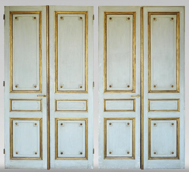 Pair of Louis XVI style double doors-0