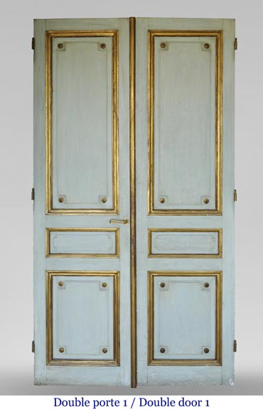 Pair of Louis XVI style double doors-1