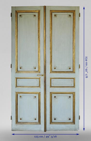 Pair of Louis XVI style double doors-6