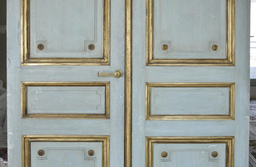 Pair of Louis XVI style double doors-9