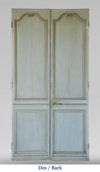 Pair of Louis XVI style double doors-11