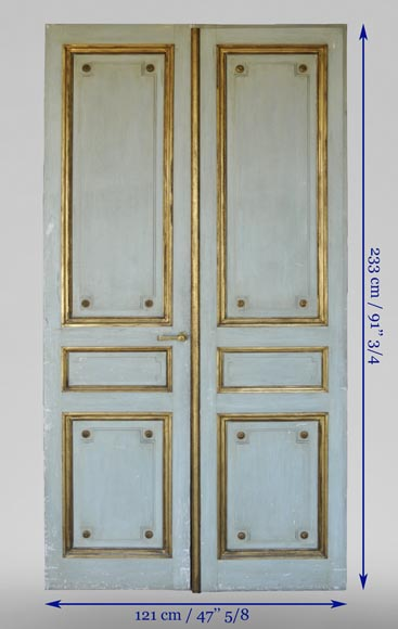 Pair of Louis XVI style double doors-12