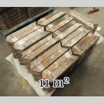 Lot of 11 m2 of Point de Hongrie oak parquet flooring