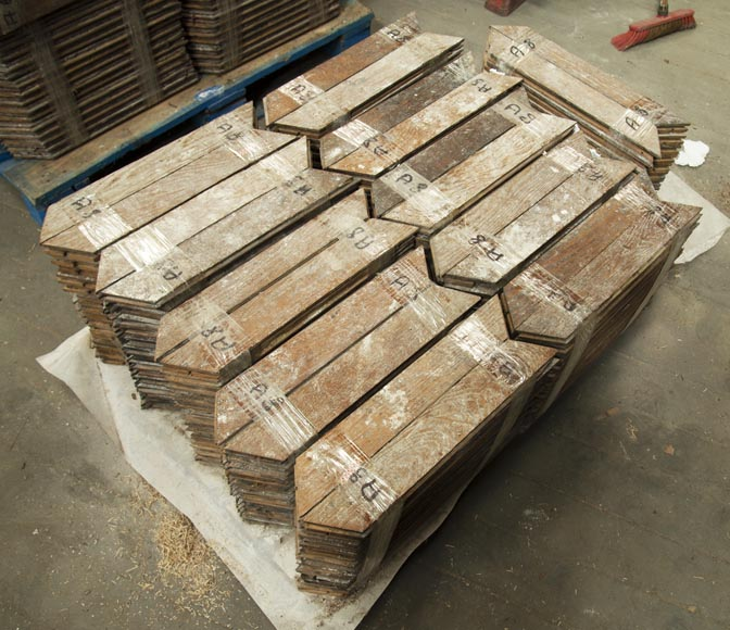 Lot of 11 m2 of Point de Hongrie oak parquet flooring-0