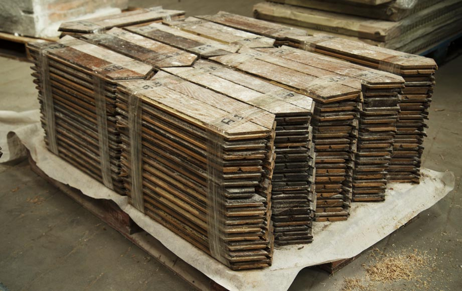 Lot of 11 m2 of Point de Hongrie oak parquet flooring-3