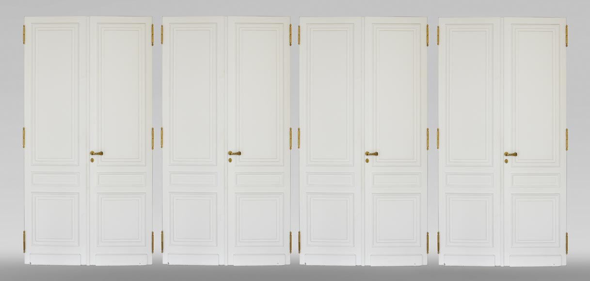 Suite of four Louis XVI style double doors-0