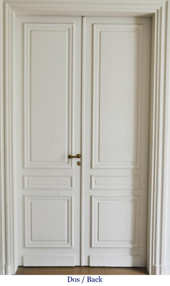 Suite of four Louis XVI style double doors-5