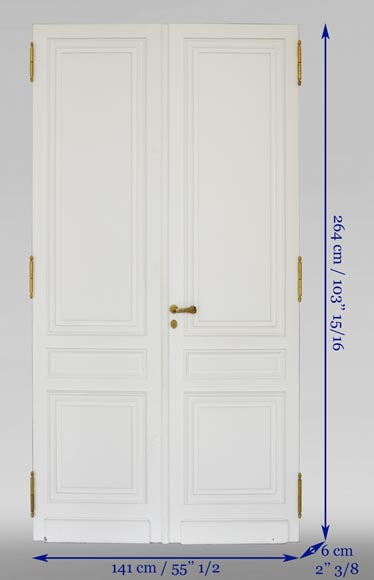 Suite of four Louis XVI style double doors-6