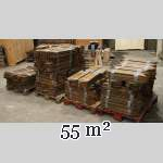 Lot of 55 m2 of antique Point de Hongrie oak parquet flooring