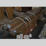 Lot of about 28 m2 of linear oak parquet flooring