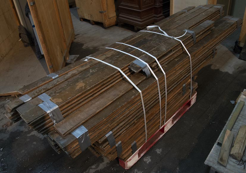 Lot of about 28 m2 of linear oak parquet flooring-0