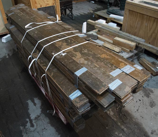 Lot of about 28 m2 of linear oak parquet flooring-1