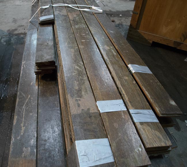 Lot of about 28 m2 of linear oak parquet flooring-3
